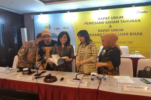 Manajemen Prodia Widyahusada saat menggelar paparan publik di Jakarta, Kamks (2/5/2019). - Bisnis/Muhammad Ridwan
