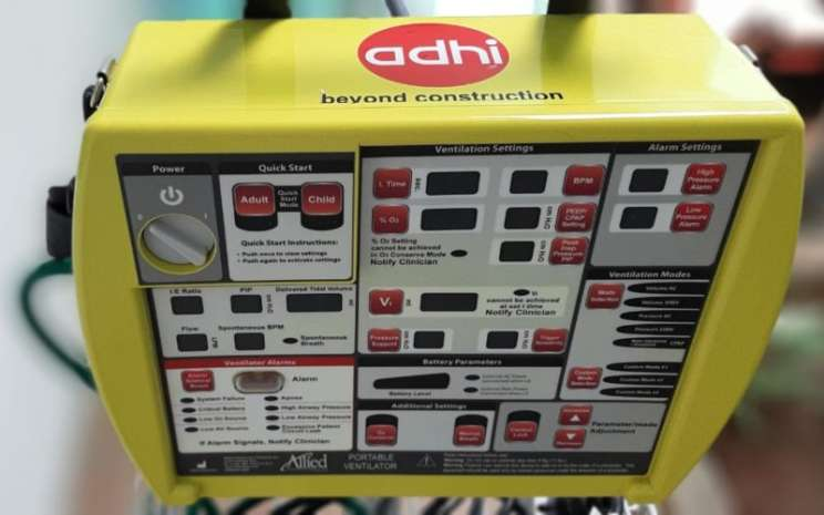 Ventilator portabel. Adhi Karya memberikan bantuan tiga unit ventilator, masing-masing satu unit  RSPAD Gatot Soebroto dan dua unit untuk RSAL Mintohardjo dalam upaya membantu pemerintah menangani virus corona (Covid-19). - Adhi Karya