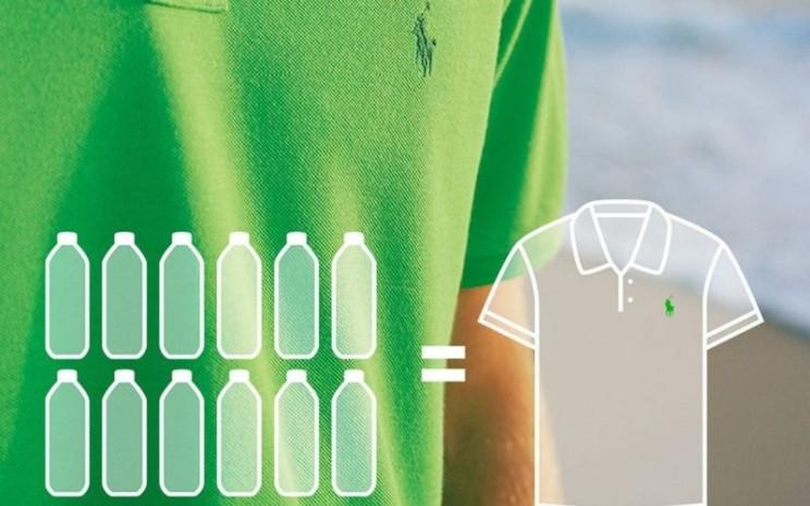 """Ralph Lauren meluncurkan """"Earth Polo"""", busana dari plastik bekas."""