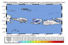 Lombok Diguncang Gempa Magnitudo 4,1