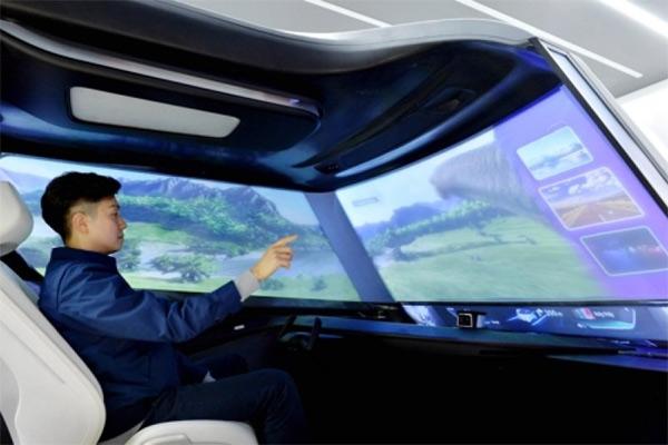 Tampilan teknologi layar kaca mobil otonom Hyundai. - Yonhap