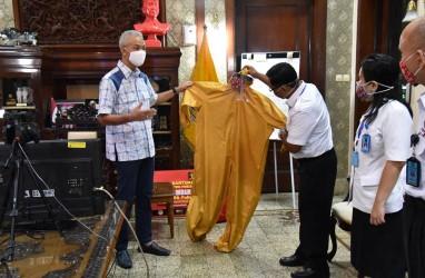 Napi dan Tahanan Produksi APD Corona, Disumbangkan ke Gubernur Jateng