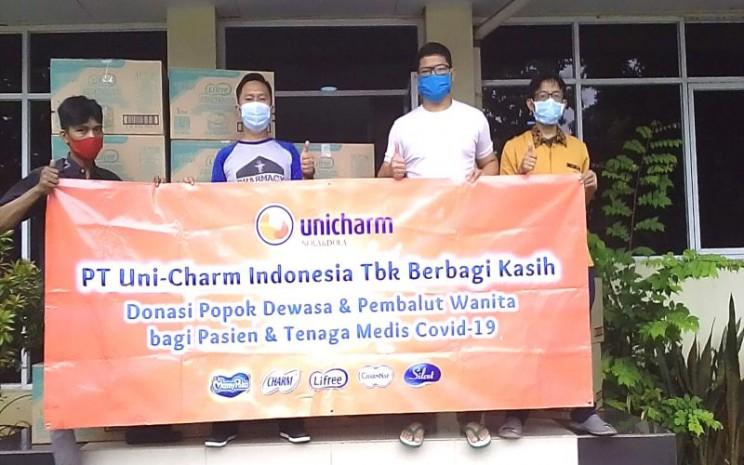 Uni-Charm Indonesia memberikan popok dewasa dan pembalut wanita kepada pasien dan tenaga medis yang menangani pasien virus Corona (Covid-19) - istimewa
