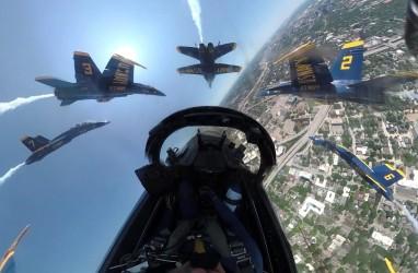 Atraksi Jet Tempur F18 Blue Angels untuk Pejuang Corona di Texas, ini Videonya