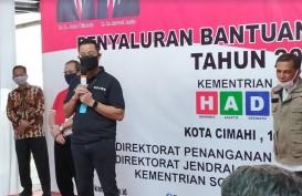 Mensos Tinjau Pembagian BST di Cimahi, Targetkan Sasar 1,8 Juta KK Pekan Ini