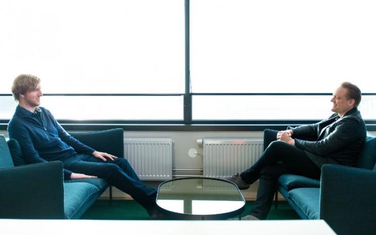 Henrik Green, Chief Technology Officer Volvo Cars; dan Austin Russell, Pendiri dan CEO of Luminar. VOLVO CARS