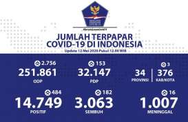Perkembangan Data Pasien Sembuh Sejumlah Provinis: DKI 924, Bali 215