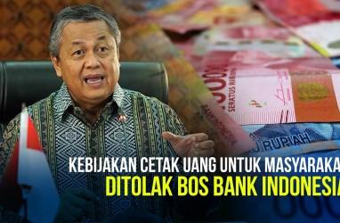 Bank Indonesia Tolak Kebijakan Cetak Uang Berlebih