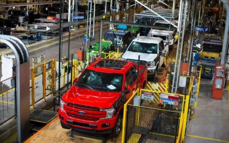 Pabrik mobil Ford di Amerika Utara. ANTARA