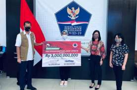 Relawan Anak Bangsa Donasikan Dana Rp3 Miliar ke BNPB