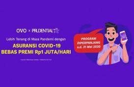 Tawarkan Asuransi Corona Gratis dari Prudential, Ovo Jaring 222.000 Peserta
