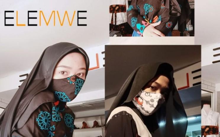 Elemwe memproduksi masker. - istimewa