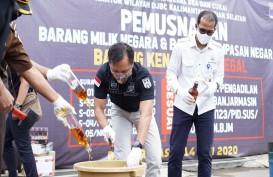 Bea Cukai Kalbagsel Musnahkan Satu Juta Batang Rokok dan Ratusan Liter Miras Ilegal