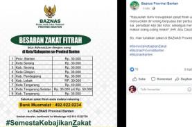 Zakat Fitrah Provinsi Banten Rp30.000, ini Cara Bayar…