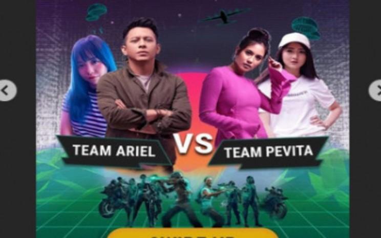 Pertarungan Team Ariel dan Team Pevita dalam PUBG