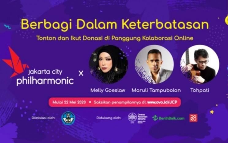 """Jakarta City Philharmonic Orchestra, bekerja sama dengan OVO dan Benih Baik akan menggelar konser daring bertemakan """"Berbagi dalam Keterbatasan"""" pada Jumat (22/5 - 2020), pukul 16:00 WIB / Jakarta City Philharmonic."""
