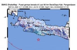 BMKG: Gempa Magnitudo 5,1 di Pangandaran, Terasa Hingga Cilacap