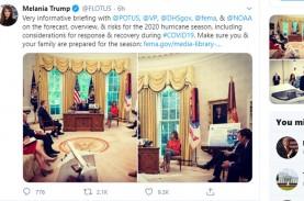 Posting Ikut Rapat dengan Trump, Melania Kena Nyinyir…