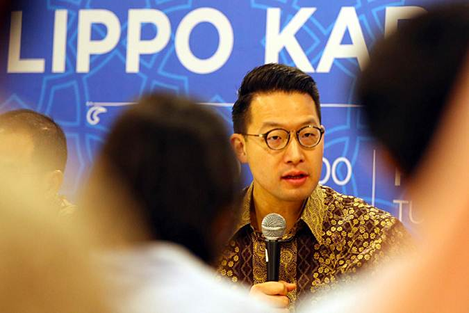 CEO PT Lippo Karawaci Tbk. John Riady memberikan penjelasan saat halalbihalal dengan media, di Jakarta, Kamis (20/6/2019). - Bisnis/Abdullah Azzam