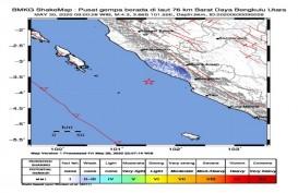 Bengkulu Diguncang Gempa Magnitudo 4,3