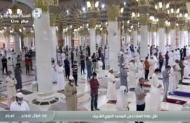 Dibuka, Masjid Nabawi Kembali Dipenuhi Jemaah