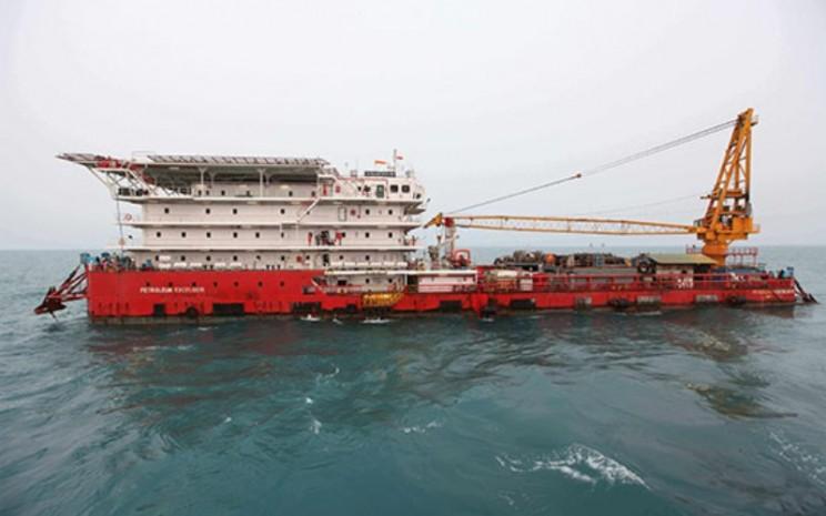 Cargo Barge Petroleum Excelsior yang dikelola PT Pelayaran Tamarin Samudra Tbk. Kapal ini dibangun pada 2008 dan bisa menampung 300 orang kru. - tamarin.co.id