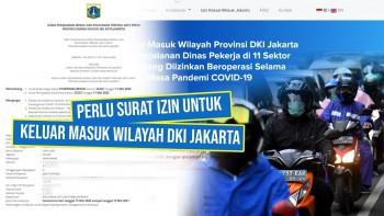 Keluar Masuk Wilayah DKI Jakarta Harus Pakai Surat Izin