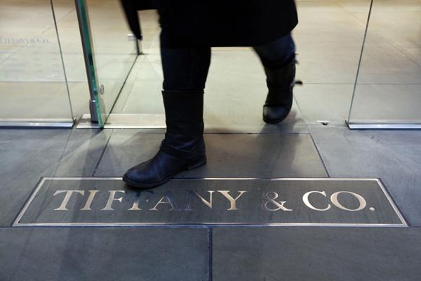 Logo Tiffany & Co. di salah satu toko retailnya - JIBI