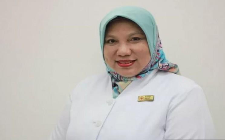 Kepala Unit Donor Darah Pusat (UDDP) Palang Merah Indonesia (PMI) Ria Syafitri. - Antara