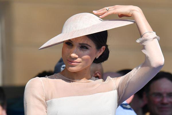 Meghan Marke yang kini bergelar Duchess of Sussex menghadiri rangkaian perayaan ulang tahun Pangeran Charles ke-70 di Istana Buckingham, 22 Mei 2018. - Reuters