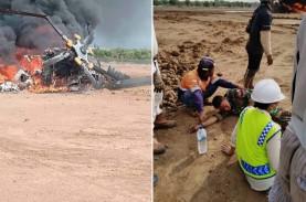 Heli Mi 17 TNI AD Jatuh Jatuh di Kendal, Ludes Terbakar,…