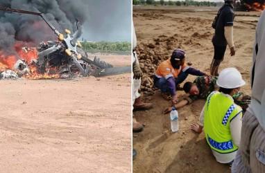 Heli Mi 17 TNI AD Jatuh Jatuh di Kendal, Ludes Terbakar, 3 Meninggal