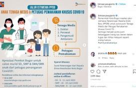 Pemkot Bogor Beri Jalur PPDB Istimewa bagi Tenaga Tim Covid-19