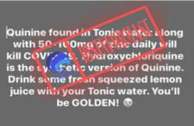 Disinformasi, Kabar Soal Zinc dan Air Tonik Sembuhkan Covid-19