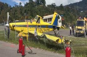 Angkut BBM, Pesawat Pelita Air Tergelincir di Tolikara