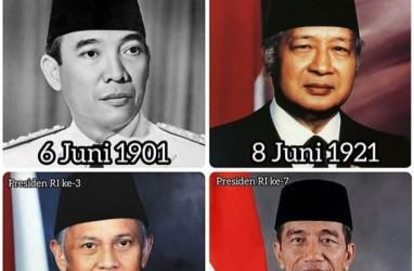 4 Dari 7 Presiden RI Lahir di Bulan Juni