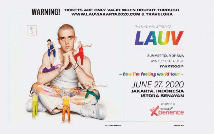 Konser Lauv ditunda karena pandemi virus corona (Covid-19) yang belum berakhir. - poster