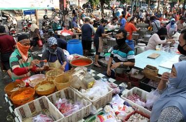 Wagub DKI Tinjau Penerapan Protokol Kesehatan di Sejumlah Pasar