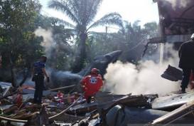 Pesawat Hawk 200 Jatuh di Lingkungan Warga, Pilot TNI AU Selamat