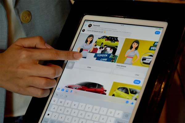 Toyota Interactive Virtual Assistant. Foto ANTARAa