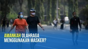 Jangan Olahraga Berintensitas Tinggi Menggunakan Masker, Berbahaya!