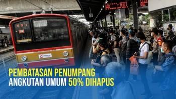 Kemenhub Hapus Pembatasan Penumpang 50% pada Transportasi Umum
