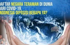 100 Negara Teraman dari Covid-19, Indonesia Diposisi ke-7 Terendah
