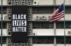 Bendera Black Lives Matter dan Bendera LGBT Dicopot Dari Kedubes US di Seoul