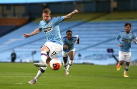 Hasil Liga Inggris, ManCity Hajar Arsenal, David Luiz Bernasib Sial