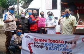 PT Semen Tonasa Bantu Korban Banjir di Jeneponto dan Bantaeng
