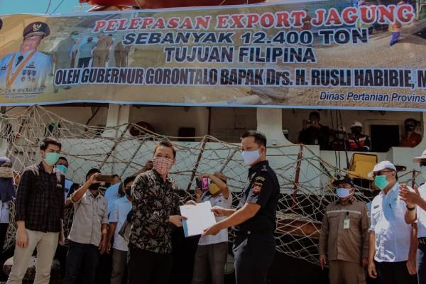 Dikawal Bea Cukai, Gubernur Gorontalo Lepas Ekspor 12.400 Ton Jagung ke Filipina