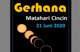 Gerhana Matahari Cincin Minggu 21 Juni, Ini Jam Puncaknya di 31 Provinsi