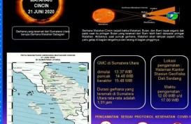 Gerhana Matahari Cincin Bisa Disaksikan di Seluruh Sumatra Utara