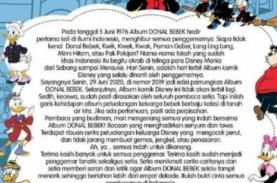 Pamitan, Album Donal Bebek Indonesia Akan Akhiri Peredaran…
